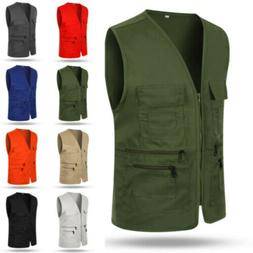New Men's Multi Pocket Director Fishing Vest Tops Travelers