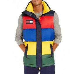 TOMMY HILFIGER NEW Men's Oversized Colorblocked Down Puffer