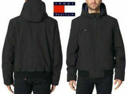 New Tommy Hilfiger Men's Soft-Shell Bomber Jacket with Hood-