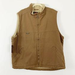 NEW Wolverine Men's Upland Vest Size XXL Brown Tan Zip Fro