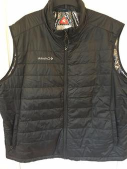 New Men's Columbia XXL Omni Heat Vest Black