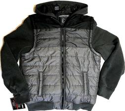 NEW! Men's Puffy Vest Hoodie Jacket Coat DISTORTION OUTERW