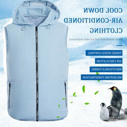 New Summer Air Conditioning Clothing Fan Cooling Vest USB Ch