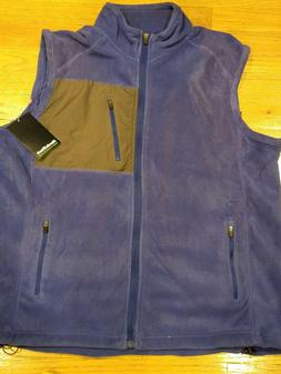 NordicTrack Mens Polar Fleece Zip Vest * Blue or Grey/Gray *