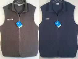 NWT $50 Men's COLUMBIA PFG Fleece HARBORSIDE Full Zip VEST X