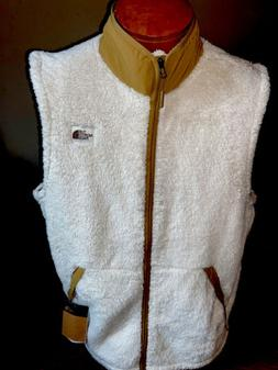 NWT THE NORTH FACE Campshire Sherpa Fleece Vest Vintage Whit