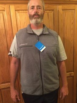 NWT Columbia fleece vest mens xl grey