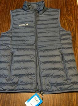 NWT Columbia McKay Lake Down Vest Mens Size Medium| Navy  |