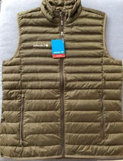 NWT Columbia McKay Lake Down Vest Mens Size LARGE | Green |
