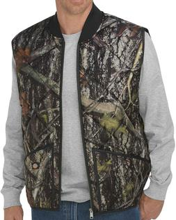 NWT Dickies Men Diamond Quilted Vest Lined True Timber Camo