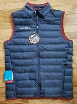NWT COLUMBIA MEN'S LAKE 22 PACKABLE LIIGHTWEIGHT DOWN VEST B