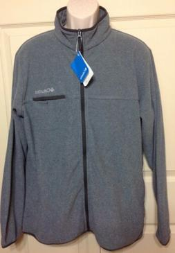 NWT MEN'S COLUMBIA  MOUNTAIN CREST FULL ZIP JACKET GRAY XM98