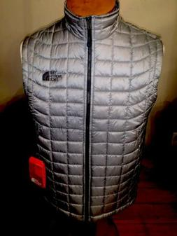 NWT The North Face Men's ThermoBall Insulated Vest GREY Smal
