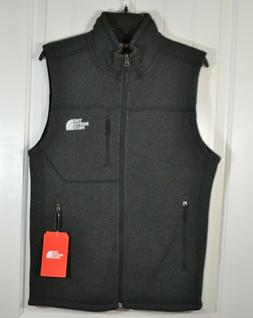 NWT MENS THE NORTH FACE GORDON LYONS BLACK HEATHER ZIP VEST