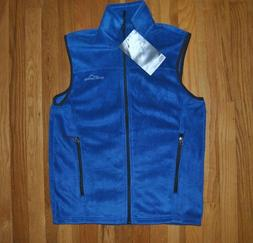 NWT Mens Eddie Bauer True Blue Fleece Quest 200 Vest Size M