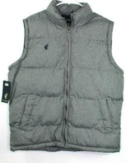 NWT U.S. POLO ASSN. Men's Heather Marled Puffer Vest Sleevel