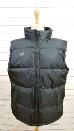 NWT U.S. Polo Assn. Men's Basic Front-Zip Puffer Vest - Medi