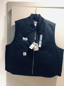 NWT Carhartt V01 BLK Duck Vest Arctic Quilt Lined Insulated