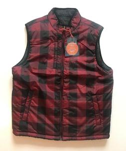 NWT Weatherproof Vintage Men's Puffer Vest Reversible Red Pl