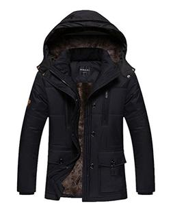 Vcansion Men's Ourdoor Winter Thickening Windbreaker Removab