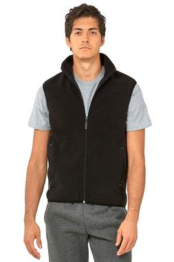 Outerwear Men's Polar Fleece Vest Sleeveless - Authentic - C