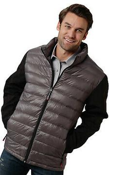 Roper Outerwear Mens Grey Nylon 50/50 Down Jacket
