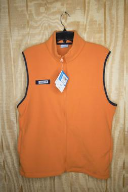 Columbia PFG Men's Harborside Fleece Vest Orange Winter Oute