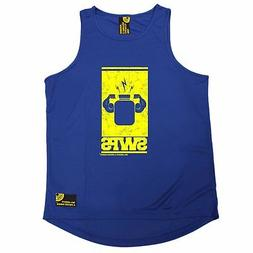 Protein Flexing Yellow Design SWPS MENS DRY FIT VEST birthda
