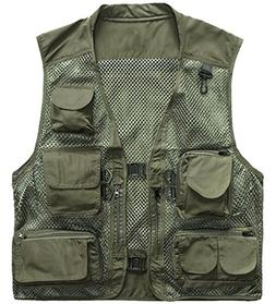 outdoor quick-dry fishing vest;  multi pockets mesh vest fis