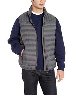 Tommy Hilfiger Men's Real Down Quilted Sport Puffer Vest, Ch