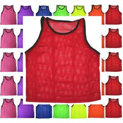 BlueDot Trading Red adult sports pinnie scrimmage training v