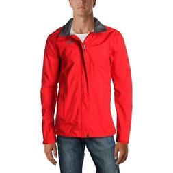 REI Co-op Mens Rainer Red Spring Raincoat Outerwear Big & Ta