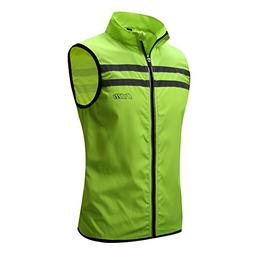 Bpbtti Men's Hi-Viz Safety Running Cycling Vest - Windproof