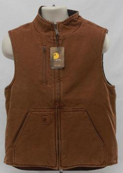 Carhartt Sandstone Mock Neck Vest Sherpa Lined V33 Mens New
