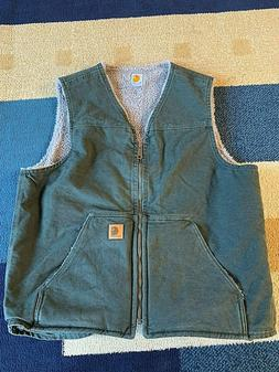 Carhartt Sandstone Rugged Vest, Men's Large Tall, Moss, New,