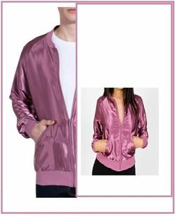 American Apparel Satin Charmeuse Bright Night Jacket Rose Pi