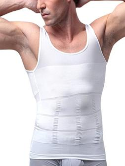 Men's Slimming Body Shaper Vest Tummy Waist Control Shirt Ab