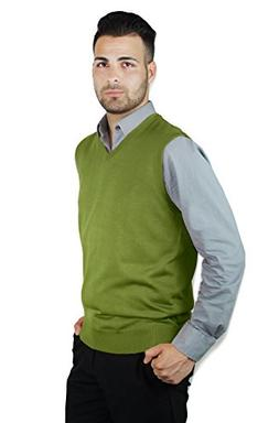Blue Ocean Solid Color Sweater Vest-Medium