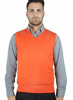 Blue Ocean Solid Color Sweater Vest-X-Large