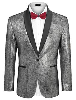 COOFANDY Men's Fashion Suit Jacket Blazer Slim Fit Party Wed