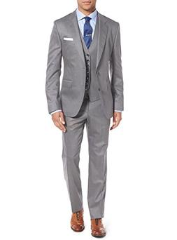 Salvatore Exte Mens Suit Vested Three Piece Blazer Jacket Dr