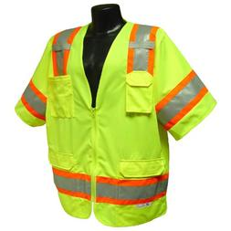 Green X-Large Radians SV83GMXL Class 3 Standard Mesh Safety Vest with Short Sleeves