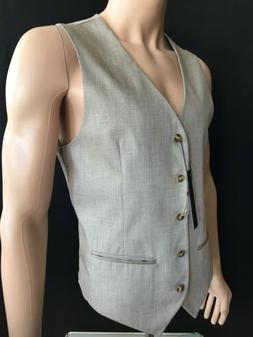 Perry Ellis Men's Texture PVL Suit Vest, Natural Linen, XX-L