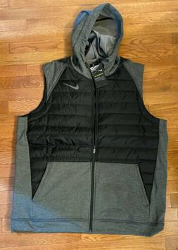 Nike Therma Puffer Vest Hoodie Men's Size Small Full-Zip T
