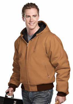 Tri-Mountain Men's Big And Tall Waistband Rib Hooded Outerwe