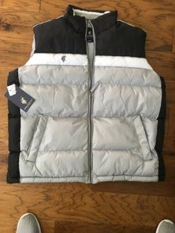 U.S. Polo Assn. Men's Basic Puffer Vest - Large Black/White/