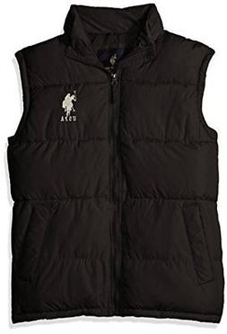U.S. Polo Assn. Men's Basic Puffer Vest with Big Logo