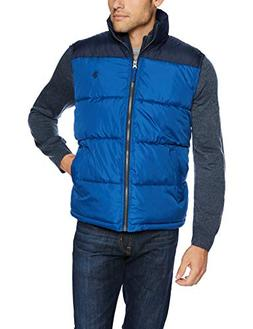 U.S. Polo Assn. Men's Color Block Vest, Blue Whale, L
