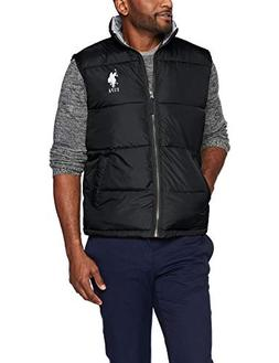 U.S. Polo Assn. Men's Puffer Vest, Black, M