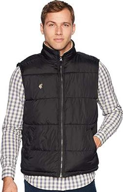 U.S. Polo Assn. Men's Signature Vest with Sherpa Collar, Bla